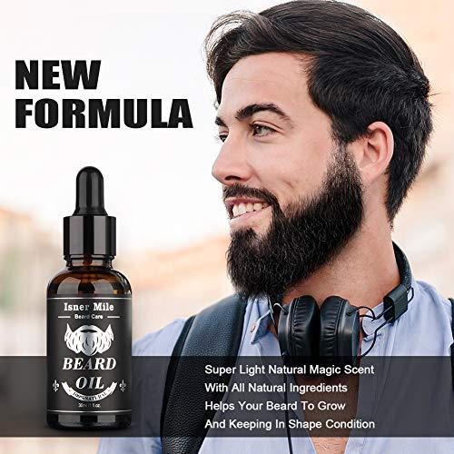 Huile a barbe ricin barbe originale paquet de 2 pour hommes soin de barbe ideal pour la croissance adoucir hydrater renforcer et entretien 100 dingredients naturels purs parfum magique leger 0 2