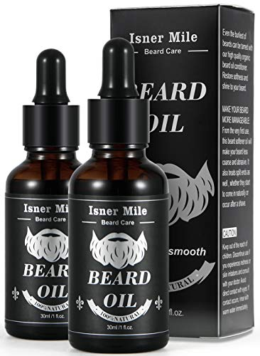 Huile a barbe ricin barbe originale paquet de 2 pour hommes soin de barbe ideal pour la croissance adoucir hydrater renforcer et entretien 100 dingredients naturels purs parfum magique leger 0