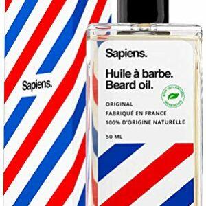 Huile à barbe Sapiens Barbershop – 100% d'Ingrédients d'Origine Naturelle