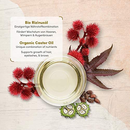 Huile de ricin bio vegan pressee a froid pour cils visage cheveux et des ongles bouteille en verre anti lumiere 200 ml 100 pure et naturelle cosmetiques satin naturel 0 0