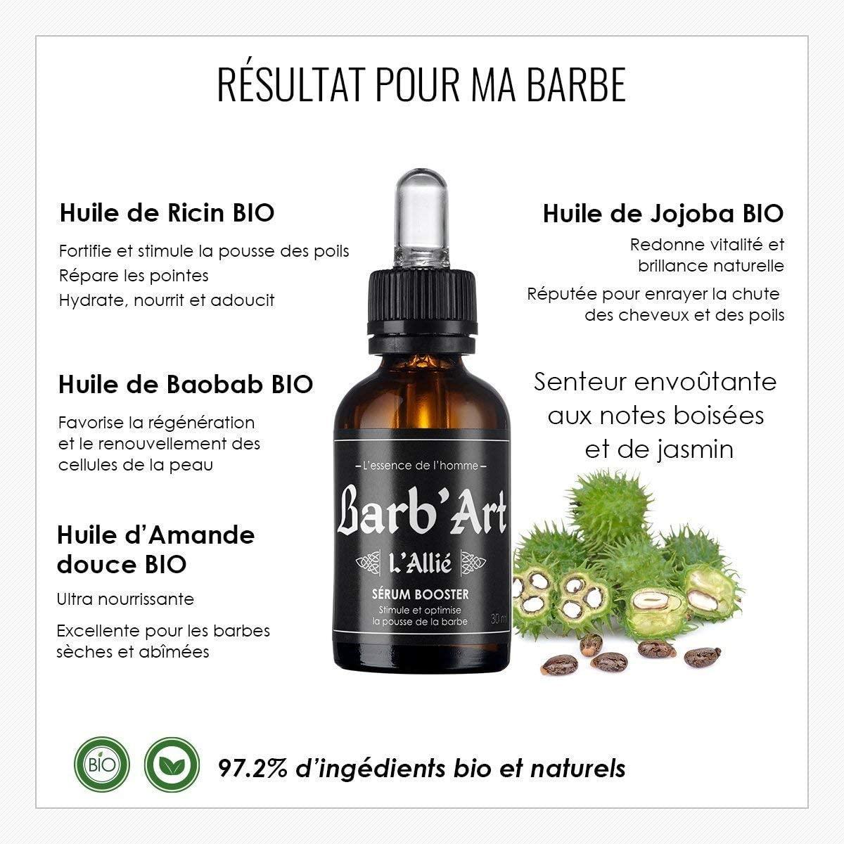 Barbart huile de ricin barbe bienfaits