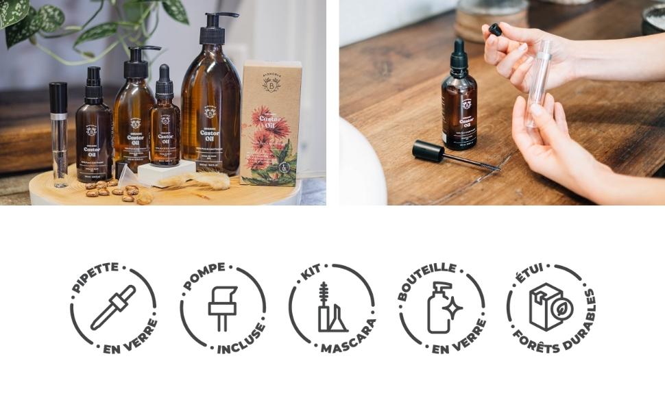 Bionoble huile de ricin naturelle et pure